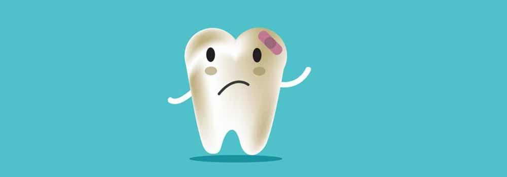 Icon image of a tooth that is hurt